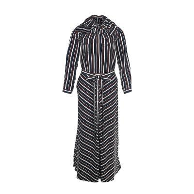 frill detail stripe blouse multi & chevron stripe patten long skirt